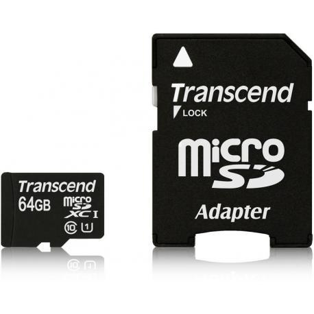 MICRO SD 64 GIGA CLASS 10 TRANSCEND