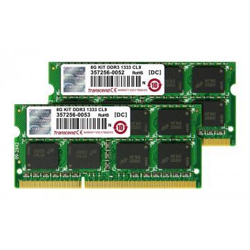 Barette de ram en kit 2 x 4 Go DDR3 1333 TRANSCEND