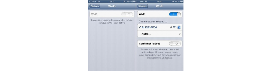 REPARATION WIFI GRISE IPHONE 4